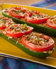 Cooking Ideas, Cooking Recipes, Healthy Recipes, Bacon Stuffed Mushrooms, Stuffed Peppers, Small Tomatoes, Zucchini Boats, Sliced Tomato, Cooking On The Grill