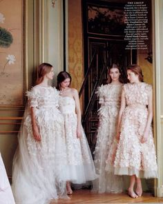 A quartet of beauty | giambattista valli