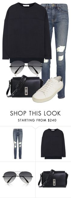 """""""Untitled #1969"""" by annielizjung ❤ liked on Polyvore featuring Frame, Chloé, Victoria Beckham, Proenza Schouler and Yves Saint Laurent"""