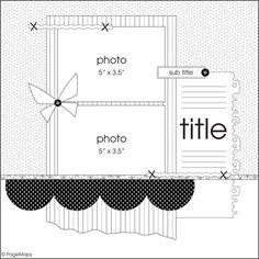 scrapbook layout sketch - Google Search