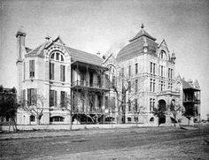 March 10, 1890 On this day in 1890, the John Sealy Training School for Nurses, the first formal nursing school in Texas, opened with eighteen students in Galveston's two-month-old John Sealy Hospital. The school was established by a group of philanthropic ladies of that city as an educational entity independent of the hospital. In 1896, however, the school was subsumed by the University of Texas Medical Branch. Photo dated 1894, photographer unknown.