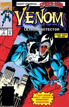 Venom - Marvel Comics Poster Print (Comic Cover - Lethal Protector) (Size: x Ms Marvel, Marvel Comics, Star Comics, Marvel Comic Books, Comic Books Art, Comic Art, Book Art, Spiderman Venom, Marvel Venom