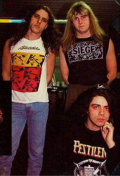 Chuck (Death), Barney (Napalm Death), and Patrick (Pestilence). Damn.