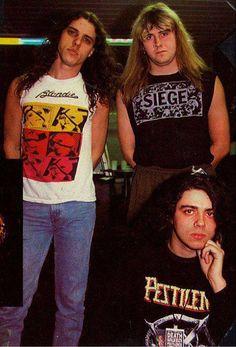 Chuck (Death), Barney (Napalm Death), and Patrick (Pestilence). Damn.