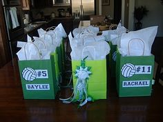 Volleyball goodie bags