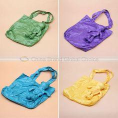 Vivid Color Foldable Bear Shape Shopping Bag Environmental Bag with Key Chain (Green) (GREEN) China Wholesale - Sammydress.com