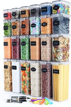 Amazon.com: Chef's Path: Home page Plastic Canisters, Storage Canisters, Pantry Storage, Pantry Organization, Pantry Labels, Bedroom Organization, Airtight Food Storage Containers, Food Containers, Large Containers