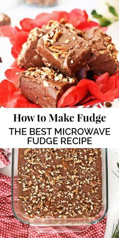 How to Make Fudge AKA the best microwave fudge recipe! It requires only one bowl and 15 minutes of your time! An excellent holiday dessert that is quick and easy. || The Butter Half