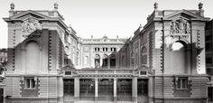 Photos de la Riviera par Jean Gilletta. - NICE. La façade de l'école nationale des Arts décoratifs, rue Tonduti-de-L'Escarène, 1905.
