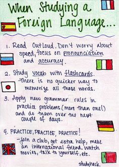 Foreign Language study ideas from Studying-Hard (tumblr)