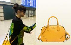 "Park Bom on ""Roommate"" Episode 8.  Gucci Bright Diamante Top Handle Bag #Roommate #ParkBom #박봄"