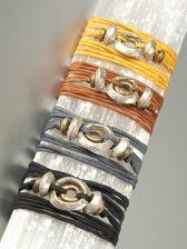 Ethiopian wedding rings on silk cord