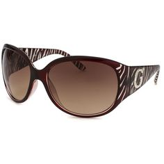 Guess Women's Oversized Translucent Maroon Sunglasses (403402401) ($30) ❤ liked on Polyvore featuring accessories, eyewear, sunglasses, maroon, lens glasses, rhinestone glasses, oversized glasses, guess eyewear and translucent sunglasses