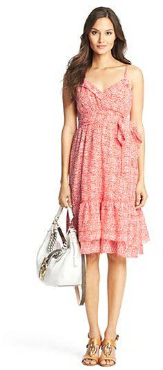 Diane von Furstenberg Queenie Printed Crinkle Cotton Tier Dress on shopstyle.com