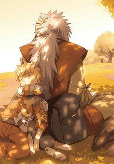 Naruto e Jiraiya