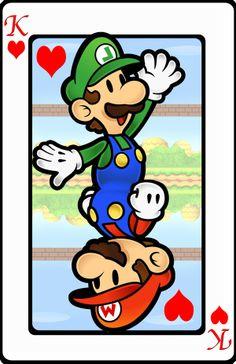 Mario et Luigi Cartes du Roi