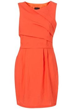 Orange is NOT my color....but I like this dress.....tangerine, tangerine
