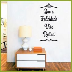 Portuguese Wall Stickers Home Decor , Que A Felicidade Vire Rotina Vinyl Wall Decals For Portuguese Home Living Room Decoration