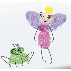 thumbprint art | Finger Printing Art Set Fairies - Worldwide Co Gifts at Crafts4kids