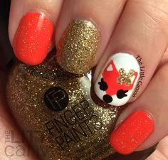 The Little Canvas: Fox Nail Art Inspired by 25 SweetPeas!