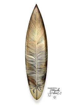 Feather design surfboard! NEED THIS!