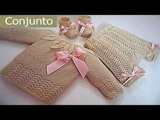Conjunto para bebe 0-3 meses paso a paso (Pantalon) tercera parte - YouTube Baby Knitting Patterns, Knitting Videos, Knitting For Kids, Crochet For Kids, Knitting Stitches, Knitting Projects, Baby Patterns, Crochet Baby Shoes, Knit Crochet