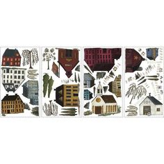 York Wallpaper RMK1569SCS Border Book Country Scenic Wall Decals