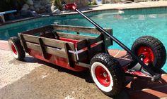 Custom Vintage Rat Rod Lowered Kids Pull Wagon by OffTheWagen, $250.00