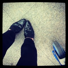 Fav shoes for traveling ... My Limi Feu pointy toe patent leather flat mules! :)