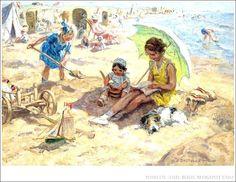 https://flic.kr/p/7NZxd8 | Jan Zoetelief Tromp (1872-1947) Dutch artist - Children playing on the beach of Katwijk | from Russian website  www.liveinternet.ru/showjournal.php?journalid=2797296&amp...