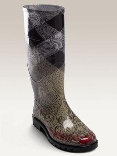 Burberry rain boot my fave shoe for nasty weather! Glad to own it
