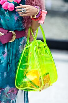 NEON (I have this bag in pink, but am currently wishing I bought the yellow too).