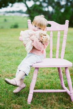 My daughter. Chair by Revamped by Samantha visit www.facebook.com/revampedbysamantha. Photography by Lovable Moments by Simone