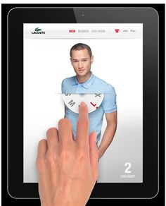 Lacoste #iPad #App Mobile #UIDesign - Love this