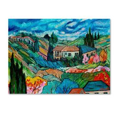 Manor Shadian 'Valley House' Canvas Art | Overstock™ Shopping - Top Rated Trademark Fine Art Canvas