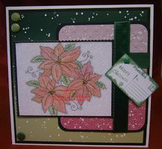 Little Claire's Designs: Thursday Blog Project - Glittery Poinsettia