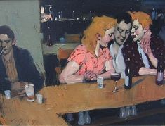 Malcolm Liepke   It's Going to be a Good Night,2007   oil on canvas  17 1/2 x 24 inches
