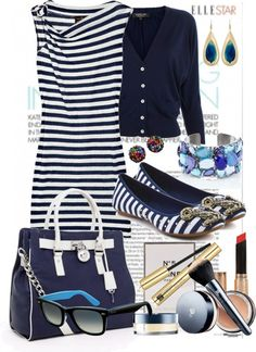 """""""Nautical Style"""" by naslouu ❤ liked on Polyvore"""