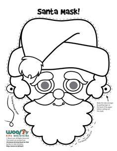 Christmas Elf Mask Printable Coloring Page. More fun