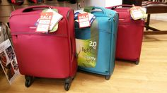 Suitcases from Samsonite - reduced in price and perfect for that last-minute summer getaway. They're also ideal for short-haul holidays as many of them are small enough to be classed as hand-luggage. Available from Luck of Louth in Lincolnshire.