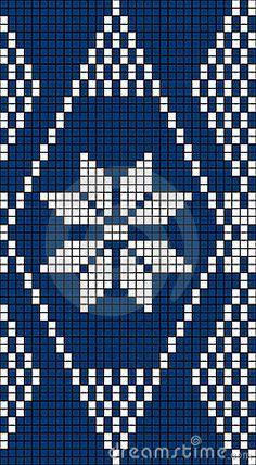 Seamless Snowflake Knit Pattern by Anita Potter, via Dreamstime