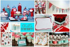Image detail for -Custom Inspiration Board - Red & Aqua Baby Shower