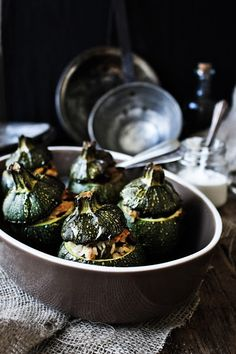 Stuffed Round Courgettes | Pratos e Travessas