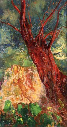 Odilon Redon ~ The Red Tree, c.1905-10
