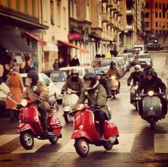 vespamore on instagram - New Year's rideout in Stockholm, Sweden 2013.