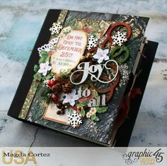 December Daily with Magda Cortez Products by Christmas Mini Albums, Christmas Journal, Christmas Minis, Christmas Books, Christmas Carol, Christmas Themes, Christmas 2019, Christmas Paper Crafts, Stampin Up Christmas