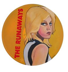 Cherie Currie Runaways Vinyl Record Art Yellow by tigerbee on Etsy, $60.00