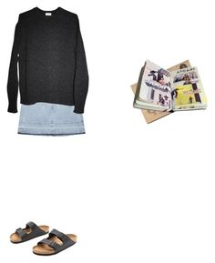 """""""Not right now"""" by malinhv ❤ liked on Polyvore featuring Aries, Yves Saint Laurent and Birkenstock"""