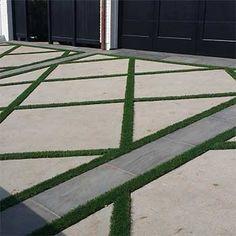 Driveway Grass Strips - Old-Fashioned Ribbon Driveways