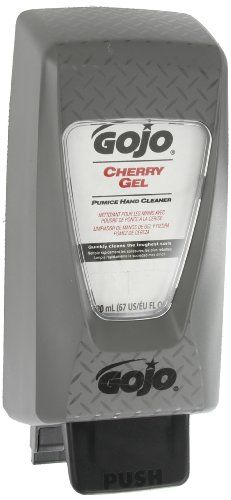 GOJO 7290-D2 TDX Gel Pumice Scrubber Hand Cleaner and Dispenser Starter Kit, Cherry Fragrance  Gojo gel-style heavy duty hand cleaner with cherry fragrance and pumice scrubbers quickly removes heavy dirt, grease and oil. pH balanced to promote skin comfort. Provides a quick, easy and complete rinse that leaves skin feeling refreshed. PRO TDX 2000 starter kit 1 dispenser/ 1 refill. Ideal for locker rooms, production, tool crib/rooms, clean-up sinks, maintenance areas. Modern design wi..
